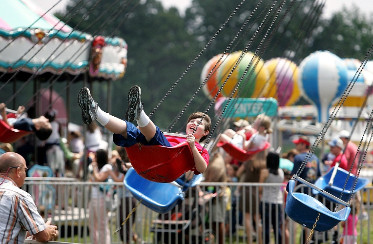 The Lowcountry Strawberry Festival at Boone Hall Plantation includes strawberry-themed fun, rides and other entertainment. (Photo by Wade Spees/The Post and Courier)